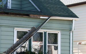 Damaged Gutters and Downspouts